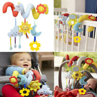 Baby Spiral Activity Hanging Toy Rattle Bell Plush Toy for Infant Stroller Crib…