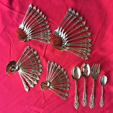 52 pieces Cooks Essentials Spoon Fork Serving Gold plated Tone Flatware Dinner