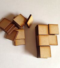20x Square Bases 3 Mm Laser Cut Mdf 20x 20 Mm Wargames bolt action