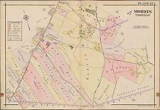 1910 MORRIS COUNTY TOWNSHIP NEW JERSEY, MORRISTOWN, SPRING LAKE ATLAS MAP
