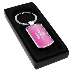 PINK Keep Calm I'm a Nurse Metal Keyring novelty gift idea party nhs 0243