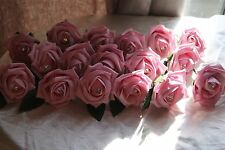 Wedding Flowers - 20  Rose & Diamante Buttonhole Corsage Groom Guest Best Man