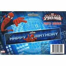 Spiderman Party Banner Decoration