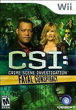 CSI: Crime Scene Investigation: Fatal Conspiracy -- Nintendo Wii Game -- GREAT