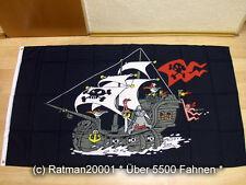 Fahnen Flagge Piratenschiff Schwarz - 90 x 150 cm