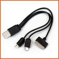 3 in 1 Multi USB Charger Cable For Mobile Phone iPhone iPod Samsung