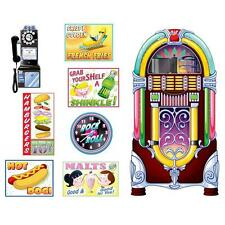 50's 60's SODA SHOP SIGNS CUTOUTS PARTY DECORATIONS ROCK & ROLL JUKEBOX  HOT DOG