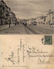 Verona, corso Vittorio Emanuele, animata carretti e tram, viaggiata 1916