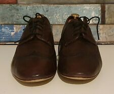 HUDSON H LONDON - BROWN BROGUES LEATHER SHOES - UK 9
