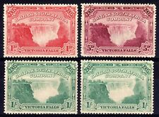 RHODESIA 1905 VICTORIA FALLS HINGED MINT SELECTION, 4 STAMPS