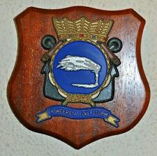 Marinekazerne Suffisant plaque shield crest Dutch Navy Netherlands gedenkplaat