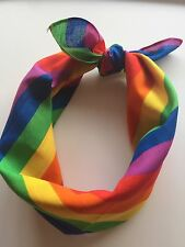 mardi gra Women Men Cotton Rainbow colorful Bandana Hair Headband Wrap Scarf