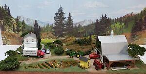 NEW HO TRAIN FARM SCENE WALTHERS DPM ERTL LIFE LIKE WOODLAND SCENICS PREISER