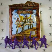 Set of 5 Grenadiers Napoleonic Wars Plastic Toy Soldier 1/32 TEHNOLOG 54 mm