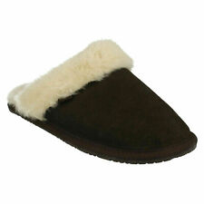 Clarks Wren Bird Leather Slip on Warm Flat Indoor Winter Slippe Shoes Size UK 4D