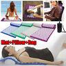3PCS/Set Massage Acupressure Yoga Mat + Pillow + Bag Sit Lying Cut Pain Stress