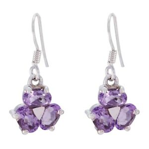 Purple 925 Sterling Silver Natural captivating Amethyst suppiler Earring AU gift