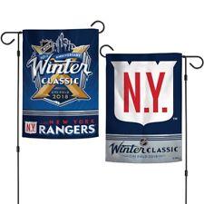 "NEW YORK RANGERS N.Y. 2018 WINTER CLASSIC CITI FIELD 12""X18"" 2-SIDED GARDEN FLAG"