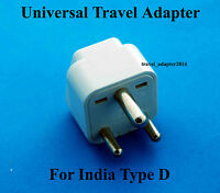 Universal to India Type D Travel Adapter for UK USA AUS EURO AC Power plug