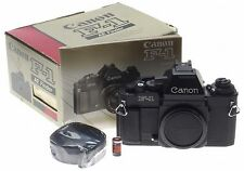 CANON NEW F-1 Black 35mm SLR film camera body Boxed Manual unused F1 AE finder