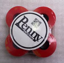 Penny Skateboard Rollen 4 Stück 59 mm Gelb Rot NEU