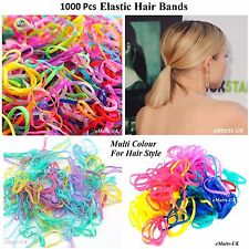 1000 Mini Hair Elastics Rubber Bands Braids Braiding Plaits Small Bands (NEW)