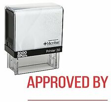 APPROVED BY with Line Office Self Inking Rubber Stamp - Red Ink (E-5206)