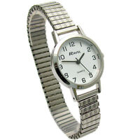 Ravel Ladies Super-Clear Quartz Watch with Expanding Bracelet sil #24 R0201.01.2