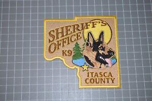Itasca County Minnesota Sheriff's Office K9 Patch (B11I)