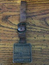 Vintage Williams Grove Steam Engine Association Watch Fob W/ Leather Strap