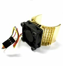 540 550 560 RC EP Electric Motor Heatsink with 6v Fan Light Brown 1/10 Scale Top
