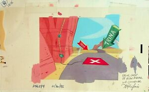 ALAN BODNER Wile E. Coyote Signed STEPHEN LEWIS Studio Concept Painting #SL
