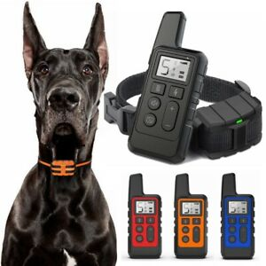 Electric Pet Dog Shock Training Collar 875 Yard Remote Waterproof Rechargeable
