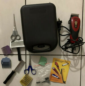Professional Electric Cord Pet Clipper With With Comb, Scissor And Case