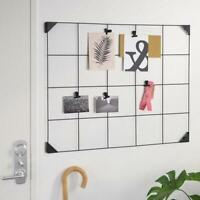 Notizgitter mit Clips, Pinnwand,Notiztafel,Notizboard, schwarz, 60x75 cm
