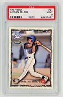 1997 Best Adrian Beltre #21 Rookie Card HOF Graded PSA 9 Stampede Dodgers LA