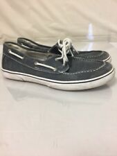 Men's Sperry Top-Sider CANVAS BLUE Boat Shoes Navy Size 5.5 M VINTAGE hipster