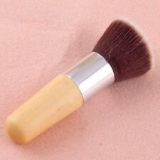 Kabuki Flat Top Buffer Makeup Bamboo Cosmetic Foundation Powder Brush Blush Face