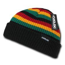 Black Kelly Yellow Red Rasta Knit Warm Winter Ski Sailor Beanie Beanies Hat Hats