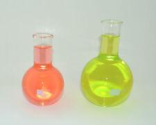 FLAT BOTTOM LONG NECK BOILING FLASKS VASE 250mL 500mL BOROSILICATE GLASS LAB NEW