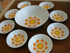 SERVICE A FRUITS SALADIERS COUPELLES VINTAGE 1970 DESIGN BAVARIA WINTERLING