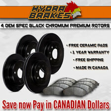 FITS 2010 2011 2012 2013 MAZDA CX-9 OE BLANK Brake Rotors CERAMIC BLK
