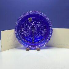 Fenton Bicentennial collectors plate carnival art glass Lafayette Washington box