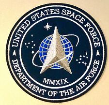 """US SPACE FORCE PATCH 3.5"""" Hook & Loop - USA Military Department Of The Air Force"""