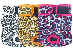Leekalos Reusable Washable Dog Diapers Female (3 Pack) - Highly Absorbent Medium