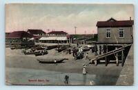Newport Beach, CA - EARLY c1909 RIEDER HAND COLORED BEACH VIEW - POSTCARD