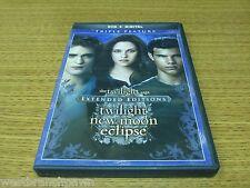 The Twilight Saga: Twilight/New Moon/Eclipse (DVD, 2015, 3-Disc Set) B#2
