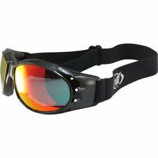 Global Vision Eliminator Motocycle Riding Goggles Black Frames Red Mirror Lens