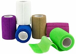 MEDca Self Adherent Cohesive Wrap Tape Bandages   3 Inches X 5 Yard FDA Approved