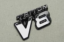 1Pcs Silvery Triton V8 ABS Plastic Car Trunk Lid Sticker Badge Emblem Decoration